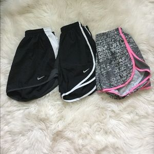 3 pairs of Nike athletic shorts